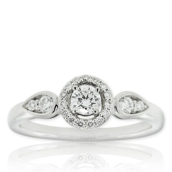 Forevermark Diamond Ring 18K, 1/5 ct. center