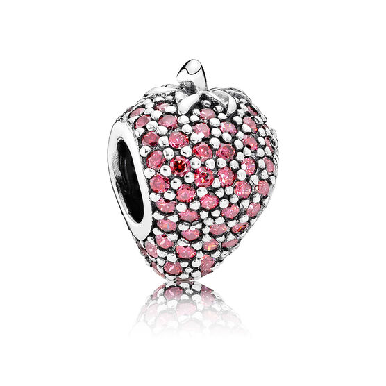 PANDORA Pavé Strawberry CZ Charm