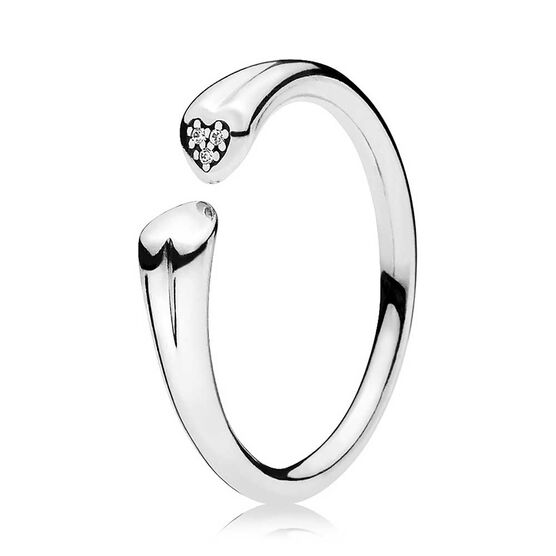 PANDORA Two Hearts CZ Ring
