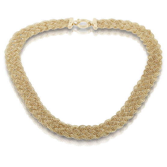 Toscano Collection Braided Five-Strand Necklace 18K