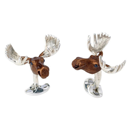 Deakin & Francis Moose Cufflinks in Sterling Silver