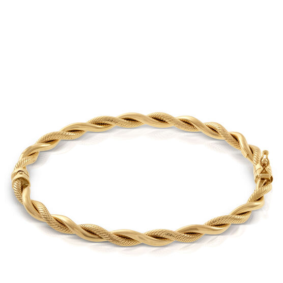 Toscano Collection Twisted Rope Bangle Bracelet 14K