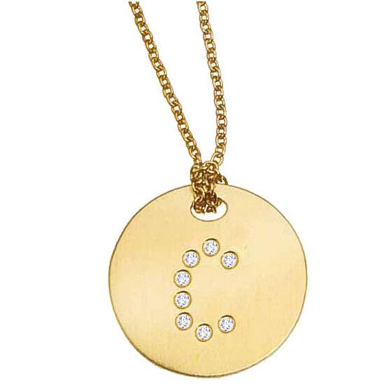 Roberto Coin Diamond Initial Pendant 18K Letter 'C'