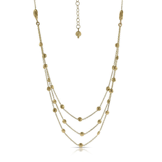 Toscano Triple Strand  Necklace 14K