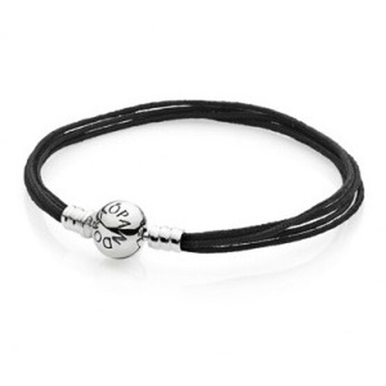 PANDORA Multi-Strand Black Cord Bracelet