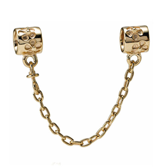 PANDORA Flower Safety Chain 14K