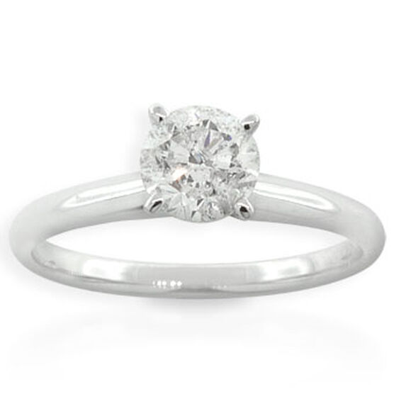 Round Cut Diamond Solitaire Ring, 14K 1ct.