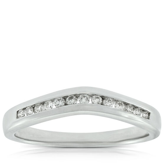 Contour Diamond Wedding Band 14K