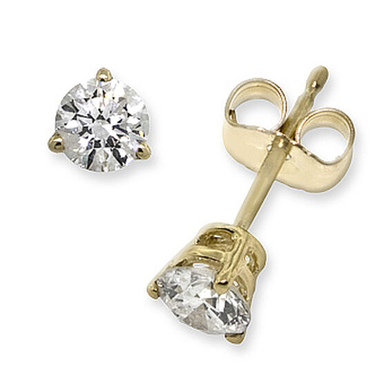 Diamond Solitaire Earrings 14K, 1/2 ctw.