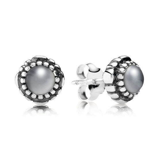 PANDORA Birthday Blooms June Earrings