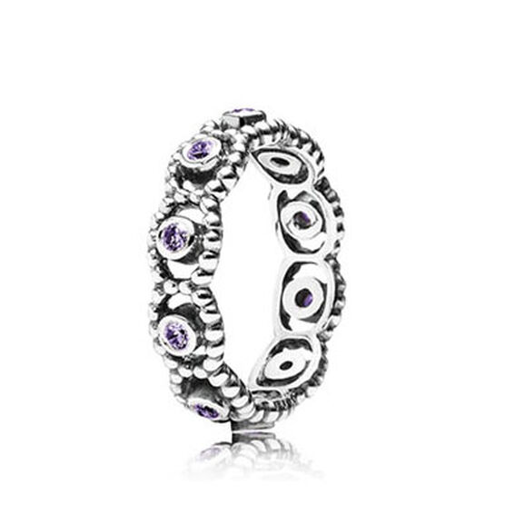 PANDORA HER MAJESTY PURPLE CZ RING