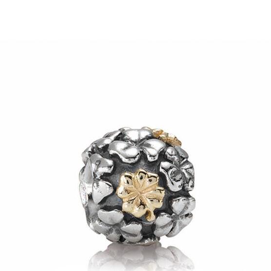 PANDORA Lucky Clover Charm, Silver & 14K RETIRED