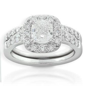 Diamond Wedding Set 14K Ben Bridge Jeweler
