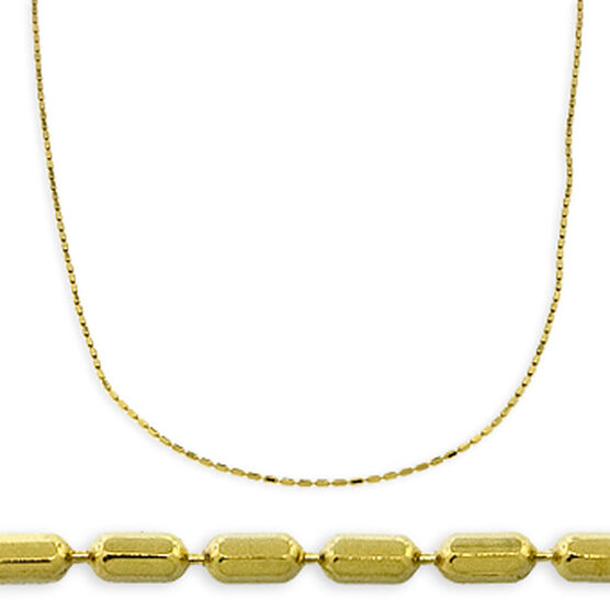 "Square Bead Chain 18"" 14K"