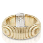 "Toscano Domed Tubogas Two-Tone Bracelet, 8"" 18K"