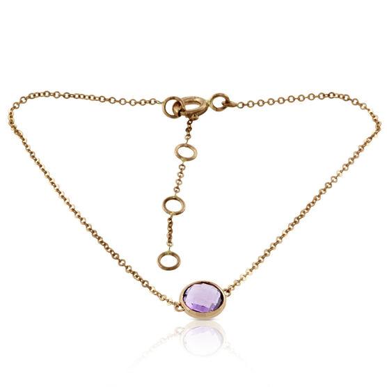 Amethyst Bracelet 14K