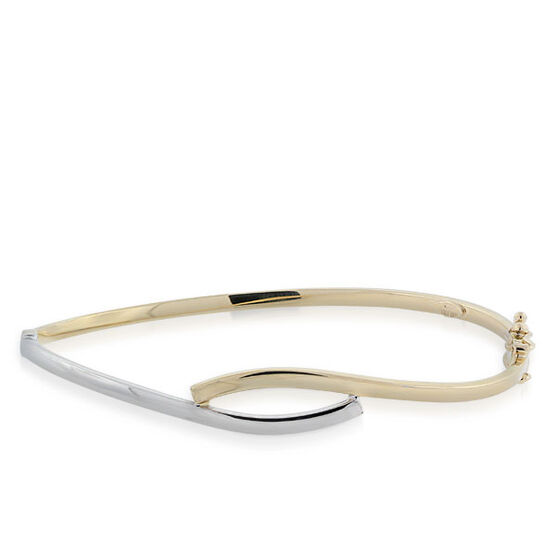 Toscano Collection Bypass Bangle Bracelet 14K