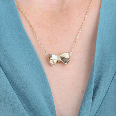 Toscano Bow Necklace 14K