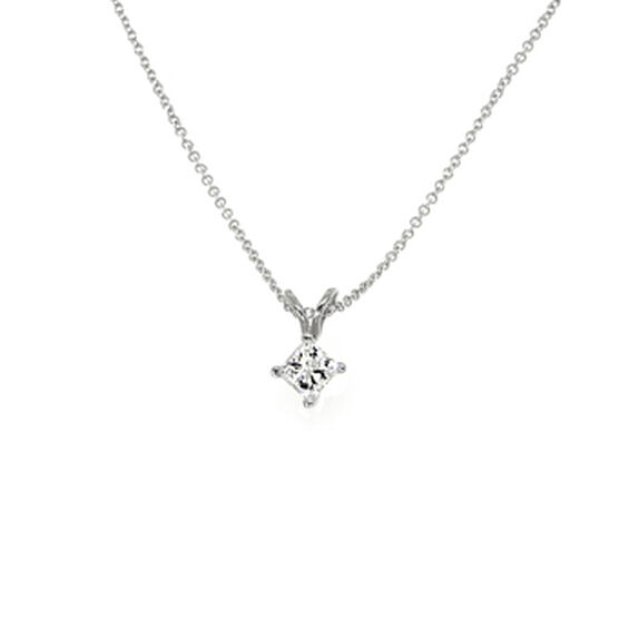 Princess Cut Diamond Pendant 14K, 1/2 ct.