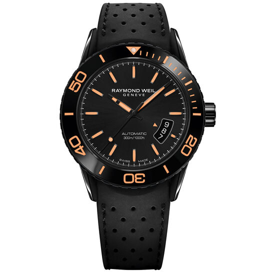 Raymond Weil Freelancer Automatic Orange Accent Watch
