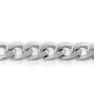 Curb Chain in Sterling Silver, 24""