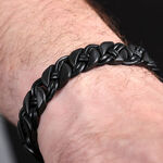 Black Woven Stainless Steel Bracelet