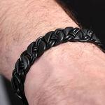 Black Woven Stainless Steel Bracelet