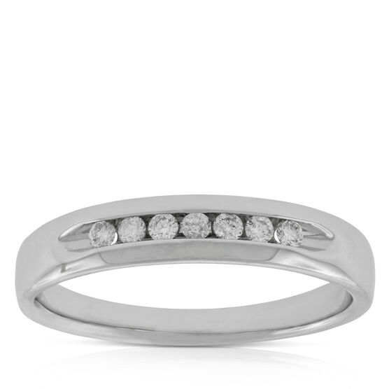 Men's Diamond Wedding Band 14K, 1/5 ctw.