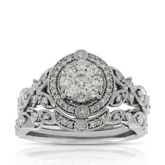 Love Eternal Diamond Wedding Set 14K