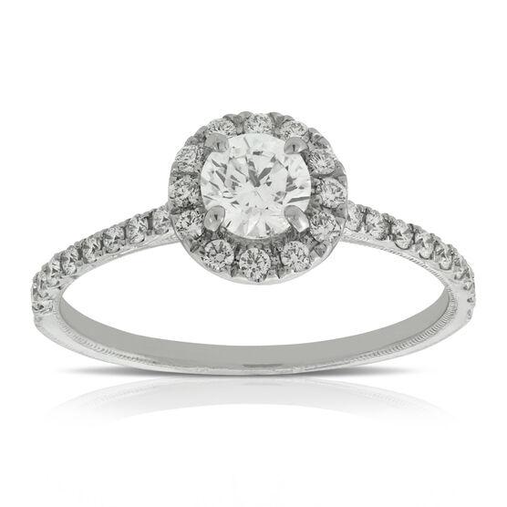 Halo Diamond Engagement Ring 14K