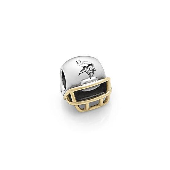 PANDORA Minnesota Vikings NFL Helmet, Silver & 14K