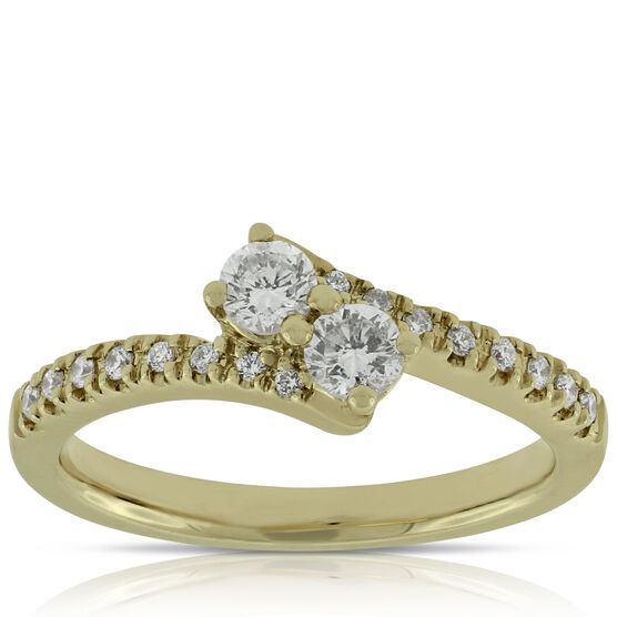 Perfectly Paired Diamond Ring 14K, .46 ctw.