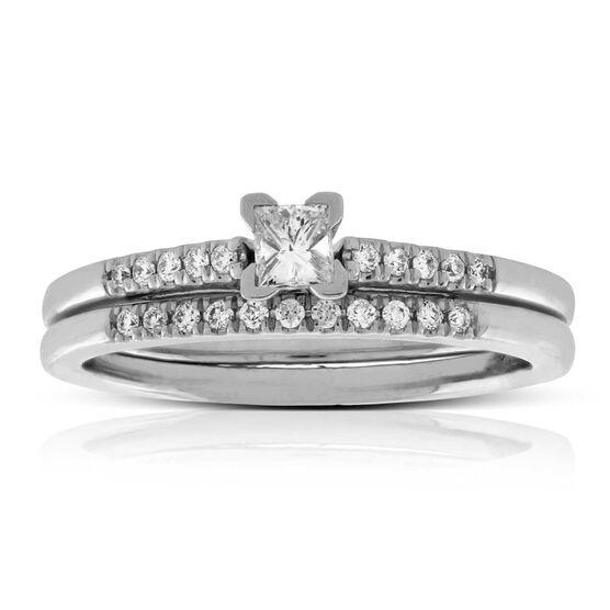 Princess Cut Diamond Wedding Set 14K