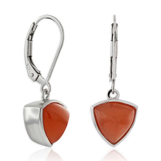 Lisa Bridge Trillian Sugarloaf Dangle Earrings in Sterling Silver