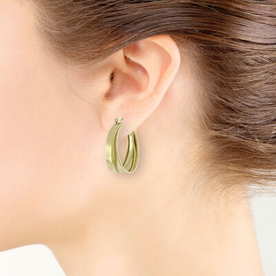 Toscano Double Hoop Earring 14K