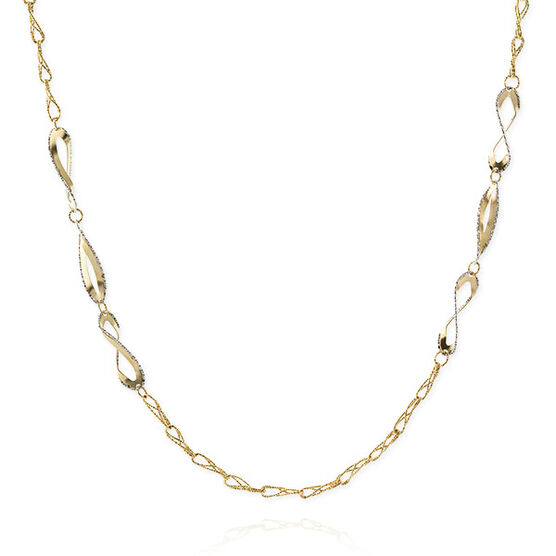 Toscano Collection Double Design Curb Necklace 18K