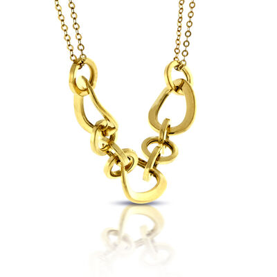 Linked Center Necklace 14K