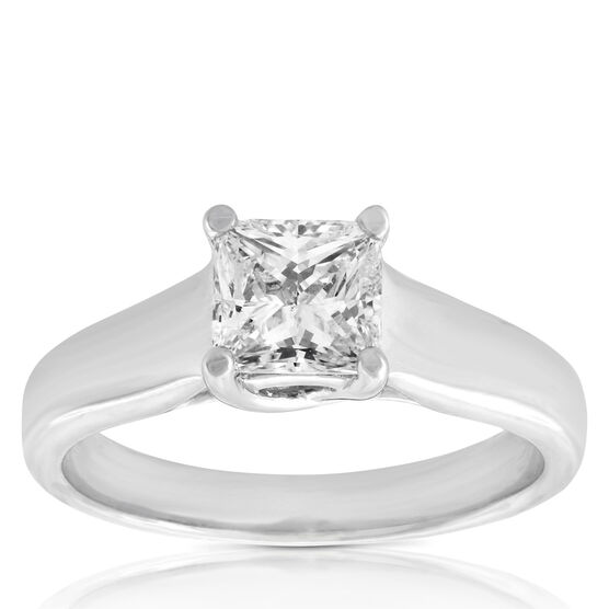 Ikuma Canadian Princess Cut Diamond Solitaire Ring 14K, 1 ct.