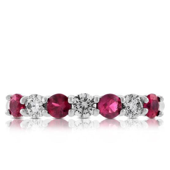 Ruby & Diamond Ring in Platinum