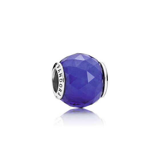 PANDORA Royal-Blue Geometric Facets Charm