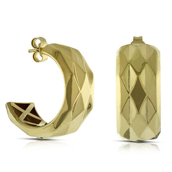 Toscano Collection Huggie Hoop Earrings 14K