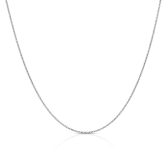 Twisted Diamond Cut Cable Chain 14K, 24""