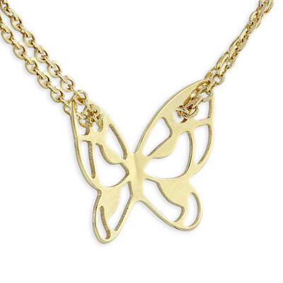 Butterfly Necklace 14K