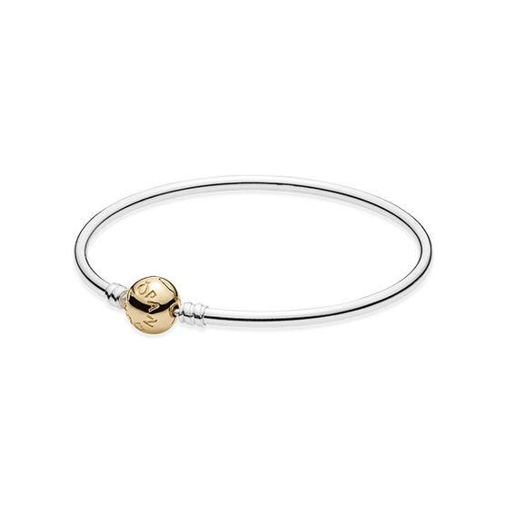 PANDORA Clasp Bangle Bracelet, Silver & 14K