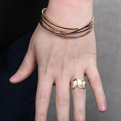 Toscano Crossover Tri-Color Bracelet