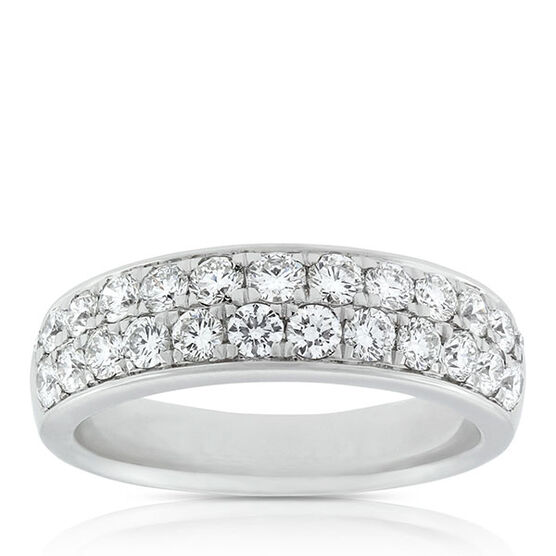 Double Row Pavé Diamond Band 14K