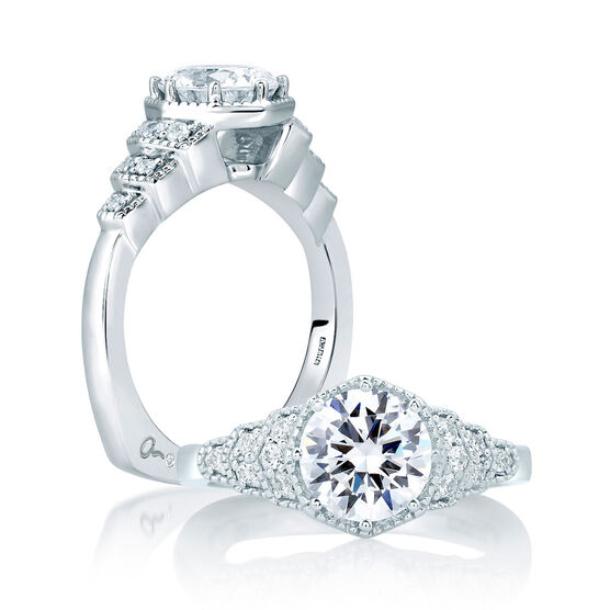 A.JAFFE Diamond Semi-Mount Ring