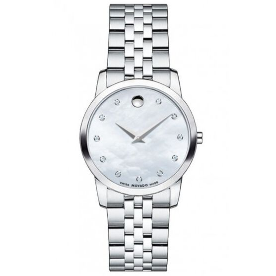 Movado Museum Mother-of-Pearl Diamond Watch
