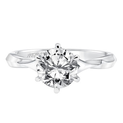 ArtCarved Diamond Semi-Mount Engagement Ring 14K