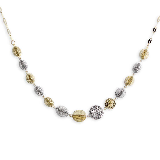 Interlocking Circles Necklace 14K